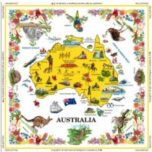 Souvenir Table Cloth - Pictures of Australia