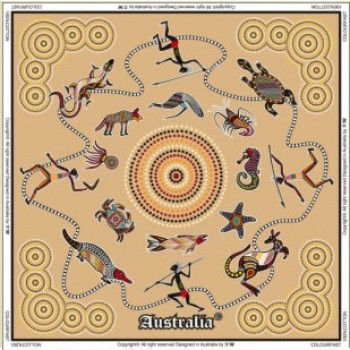 Australian Souvenir Table Cloth - Aboriginal Art
