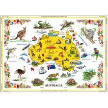 Australian Souvenir Table Cloth - Pictures of Australia