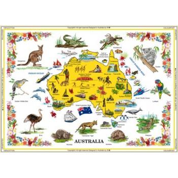 Australian Souvenir Table Cloth - Pictures of Australia