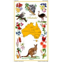 Souvenir Tea Towel - Australian Flora and Fauna