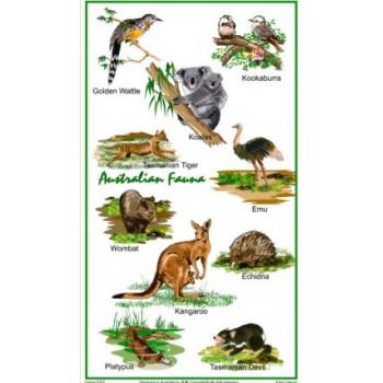 Souvenir Tea Towel - Australian Fauna