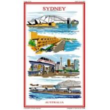 Australian Souvenir Tea Towel - Visiting Sydney