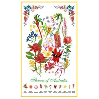 Souvenir Tea Towel - Flowers of Australia