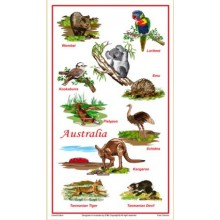 Souvenir Tea Towel - Australian Animals