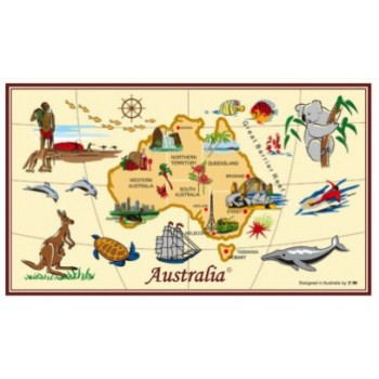 Souvenir Tea Towel - Map of Australia