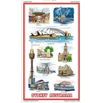 Australian Souvenir Tea Towel - Memento Sydney