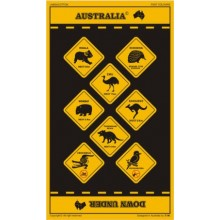 Souvenir Tea Towel - Australian Road Signs