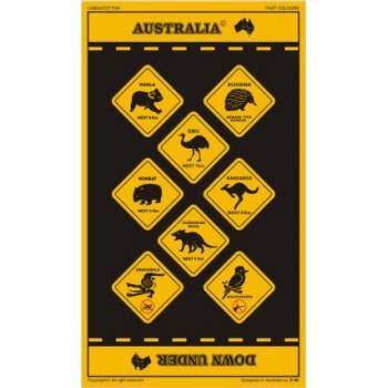 Souvenir Tea Towel - Australian Road Signs