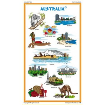 Souvenir Tea Towel - Visiting Australia