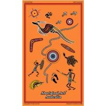 Australian Souvenir Tea Towel - Aboriginal Art Tales