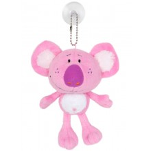 Koala Toy Tag with Suction - Pink