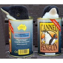 Canned Penguin Toy
