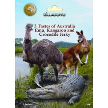 Exotic Jerky Try Pack - 3 Tastes of Australia - Emu, Kangaroo, Crocodile Jerky