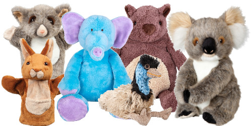 soft toys animals collection koala kangaroo possum elephant emu wombat